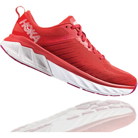Hoka One One Arahi 3 Running Shoes Dam poppy red/nimbus cloud